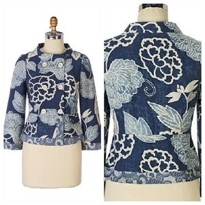 Elevenses ikebana double breasted summer jacket